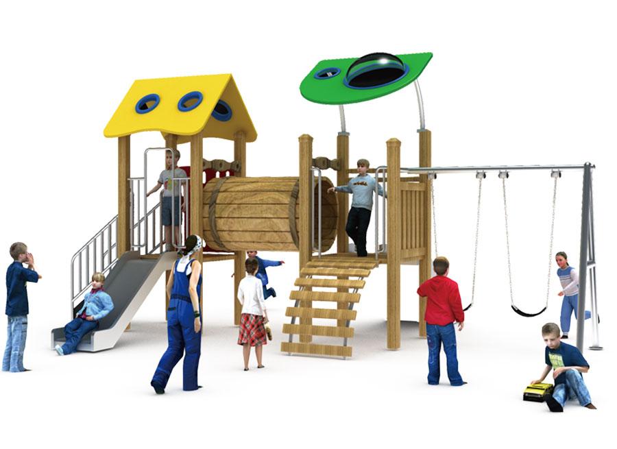 组合滑梯+游乐设备+小博士+滑梯+原木滑梯+不锈钢组合滑梯37