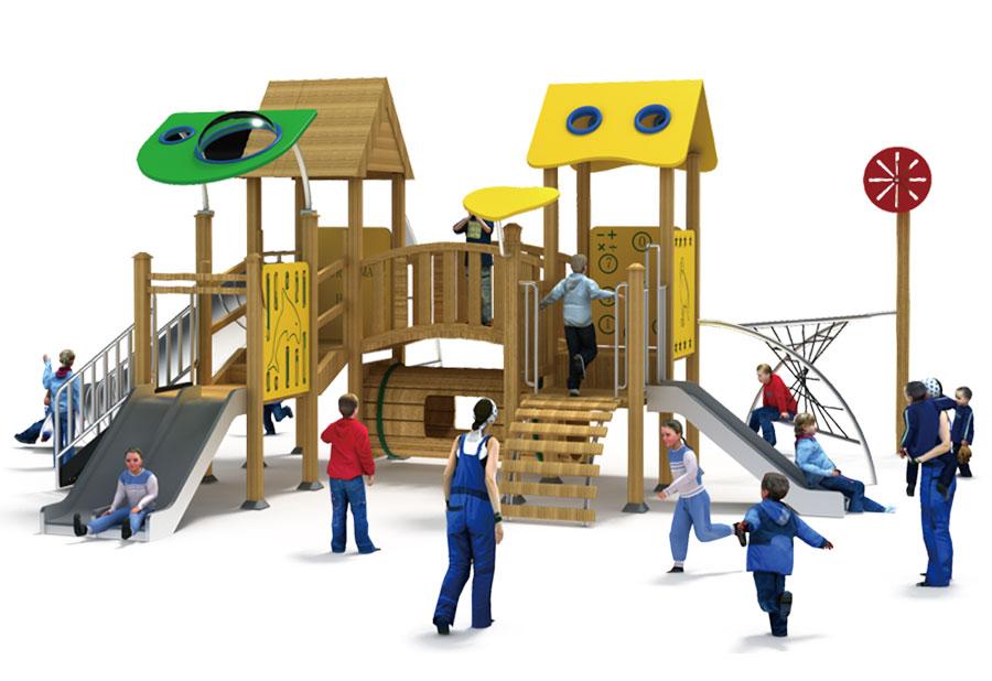 组合滑梯+游乐设备+小博士+滑梯+原木滑梯+不锈钢组合滑梯34