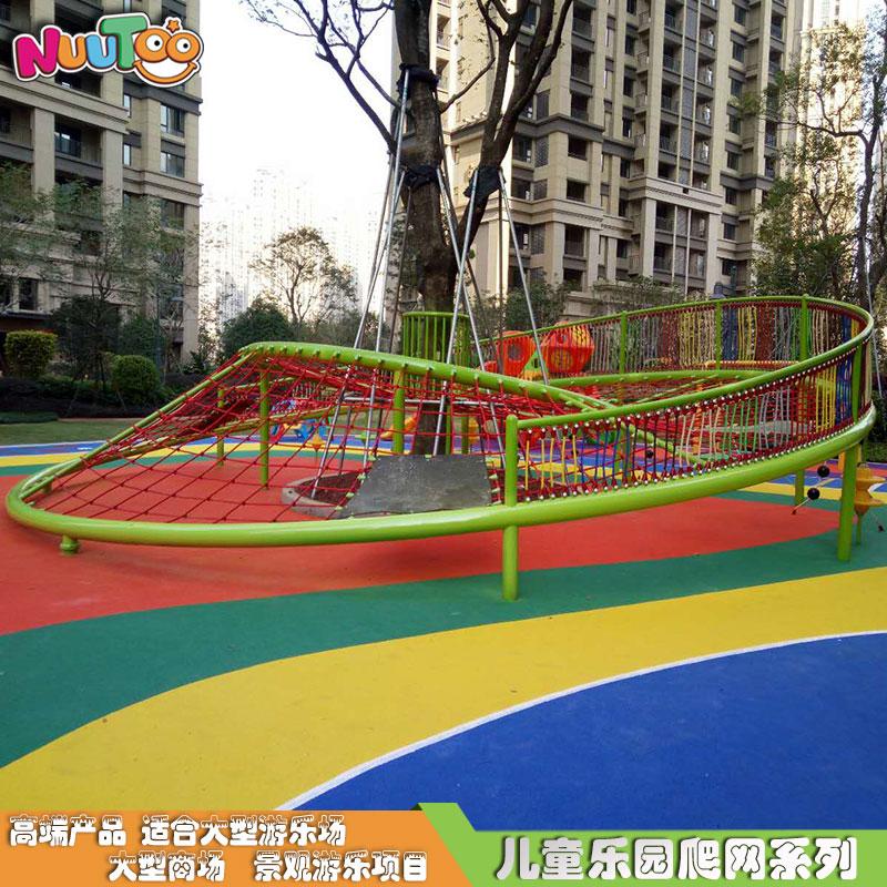 兒童組合滑梯戶外繩網攀爬_樂圖非標游樂