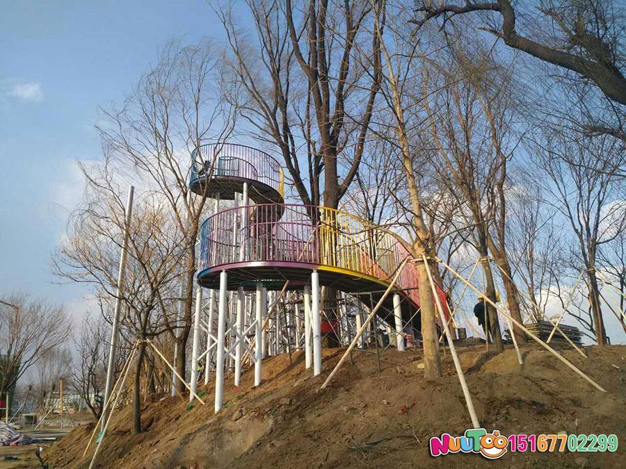 非标游乐+成都高投走廊及不锈钢大滑梯+天鹅组合滑梯 (17)
