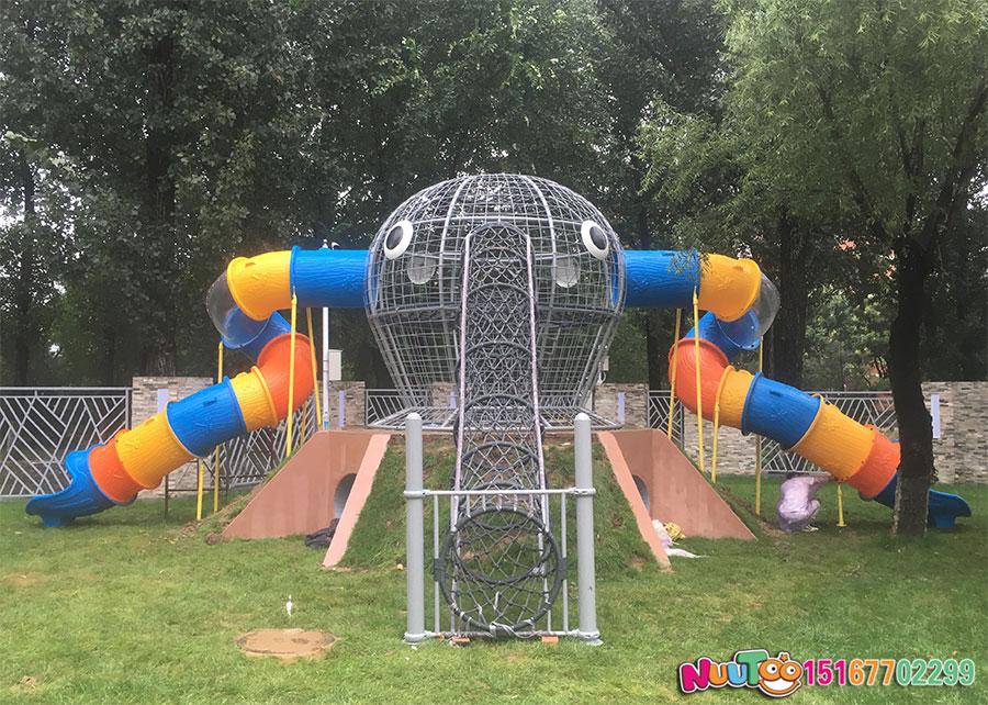非标游乐+华北电力大学组合滑梯+绳网攀爬 (4)