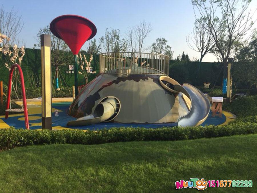 小王子乐园+非标游乐+星球组合滑梯+不锈钢滑滑梯 (7)