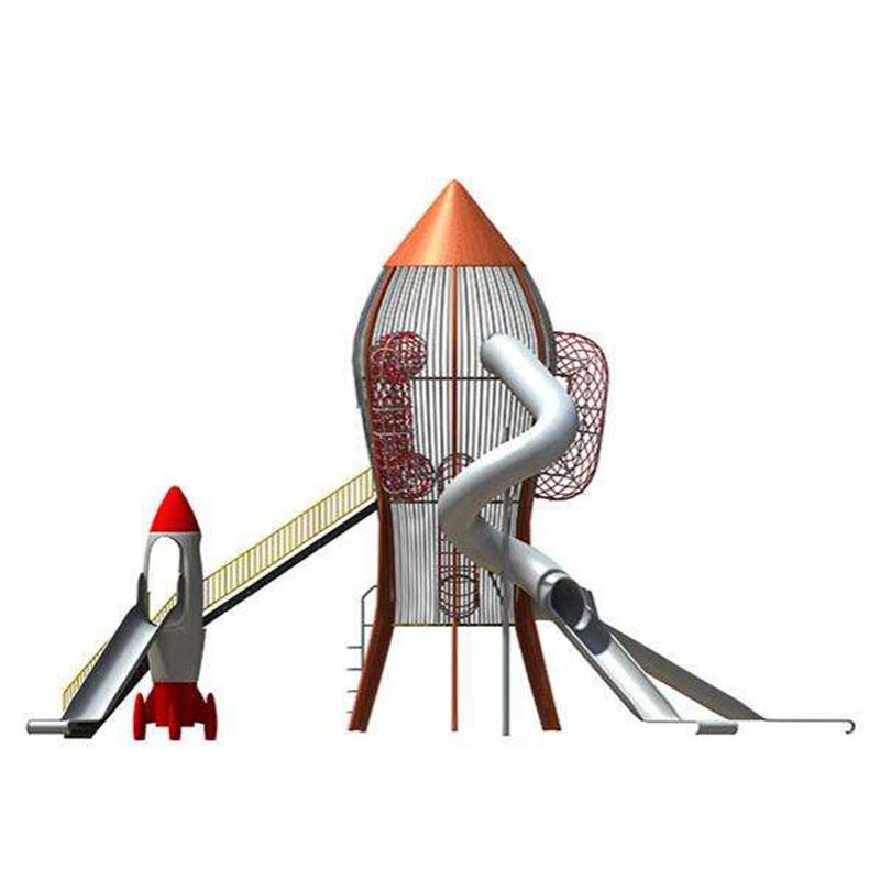 火箭樂園大型組合滑梯報價價格_樂圖非標游樂
