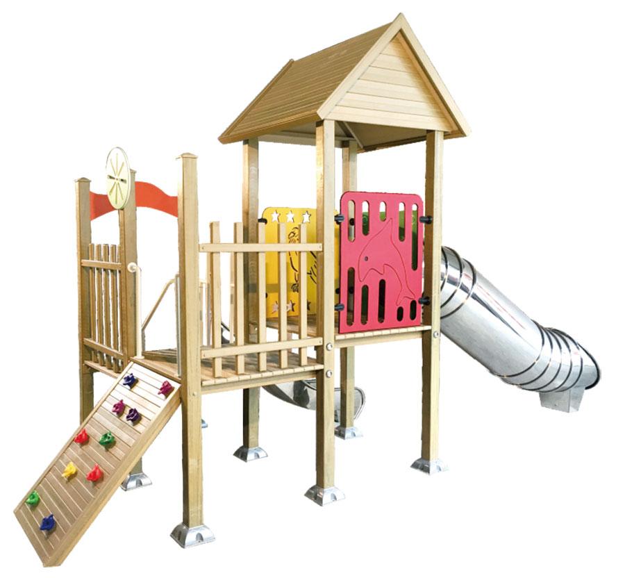 组合滑梯+游乐设备+小博士+滑梯+原木滑梯+不锈钢组合滑梯43