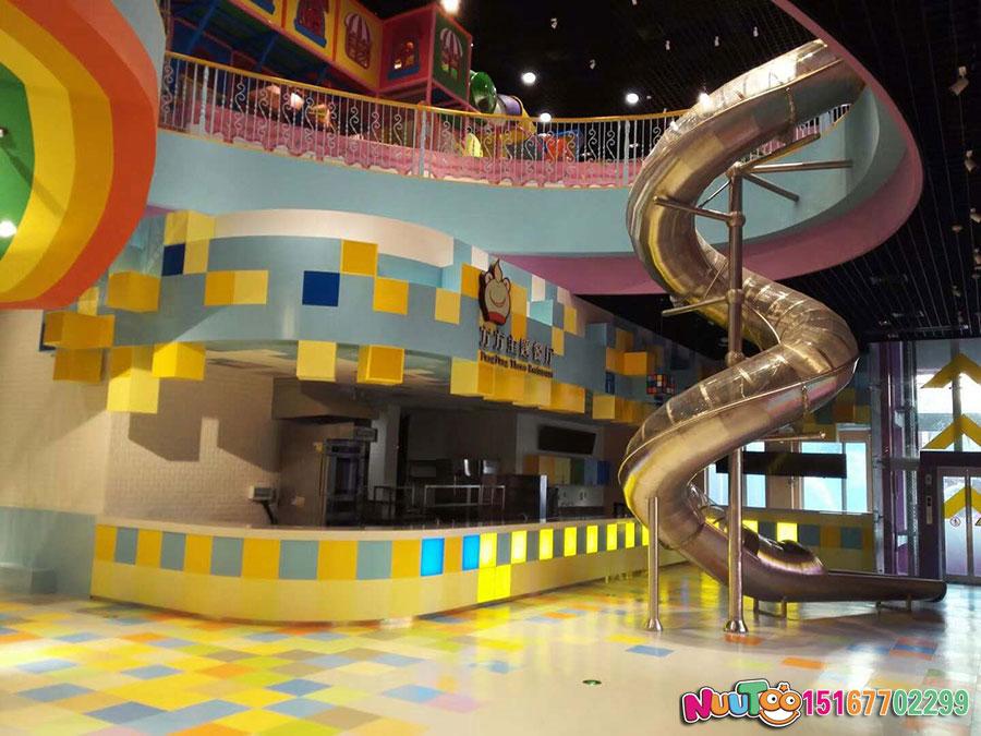 乐图非标游乐+不锈钢滑梯+东莞龙凤山庄-(6)