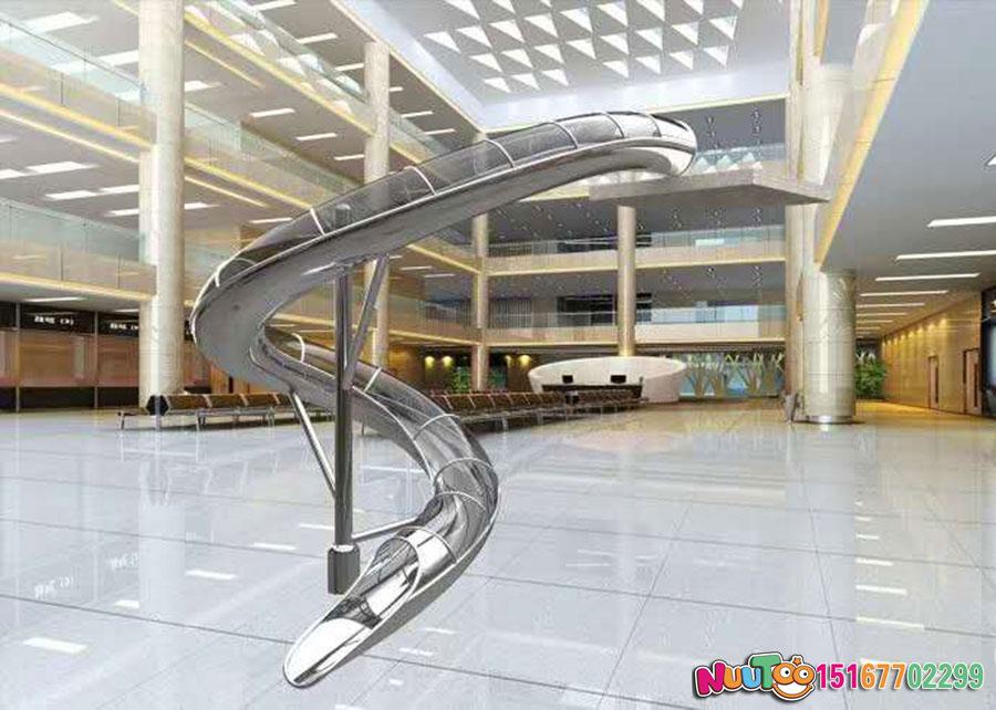 乐图非标游乐+不锈钢螺旋滑梯-(7)