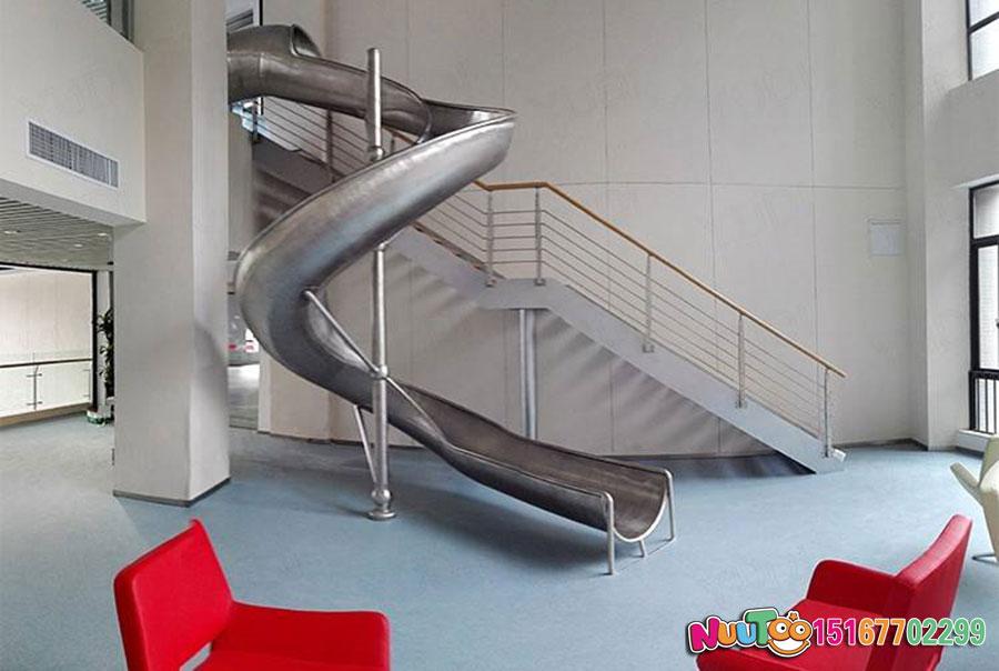 乐图非标游乐+不锈钢滑滑梯+办公室休闲游乐-(4)