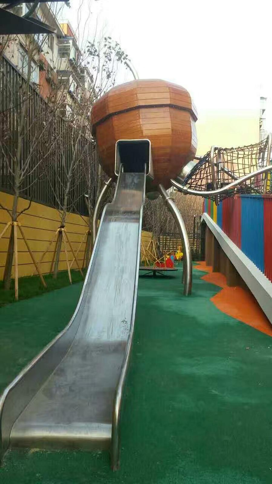 不锈钢滑梯+松果滑梯+非标定制