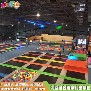室內大型蹦床樂園 成人兒童組合滑梯廠家