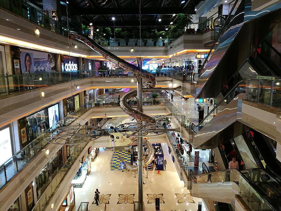 上海巴黎春天不锈钢滑梯案例 (7)