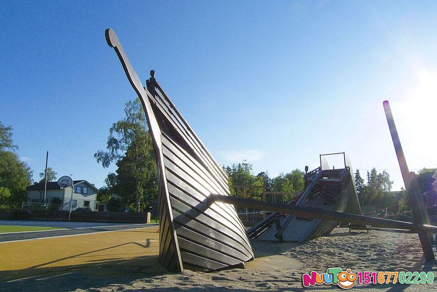 海盗船游乐+海盗船游乐设备+海盗船游乐园+海盗船组合滑梯-(2)