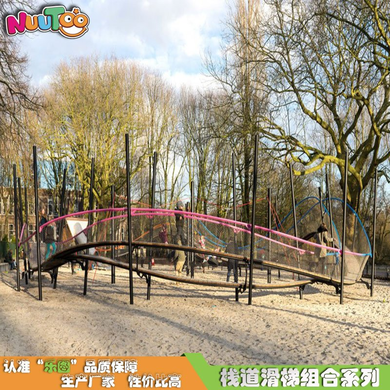 不銹鋼棧道組合滑梯 空中走道組合滑梯 兒童過道組合滑梯非標游樂設備設施生產廠家