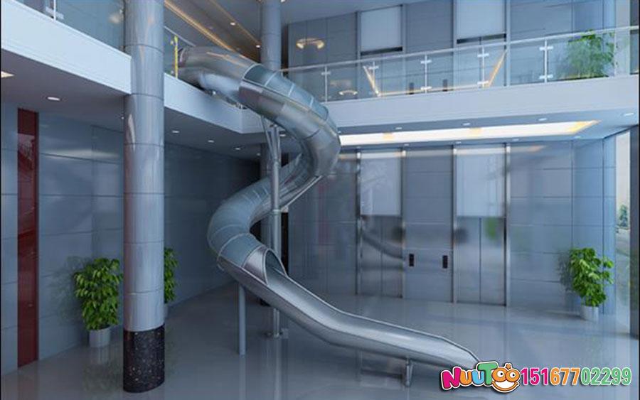 乐图非标游乐+不锈钢滑滑梯+办公室休闲游乐-(2)