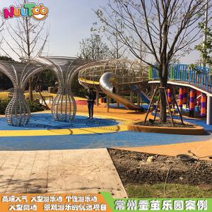户外大型非标游乐设备 游乐场定制组合滑梯 户外园林木质不锈钢游乐设施LT-JG002