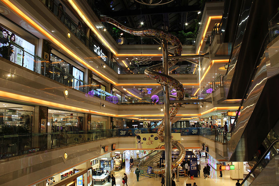 上海巴黎春天不锈钢滑梯案例 (5)