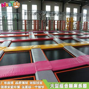 游乐场蹦床 蹦床灌篮 网红粘粘墙设备生产厂家LT-BC004